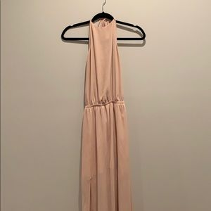 Show Me Your Mumu Heather Halter Dress-Dusty Blush
